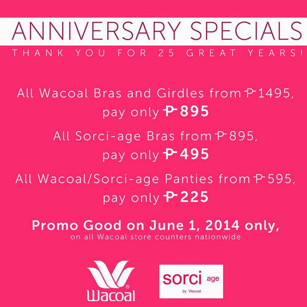 Wedding Anniversary Ideas Manila : Wacoal is turning 25 on June 1, 2014 in the Philippines! And they are ...
