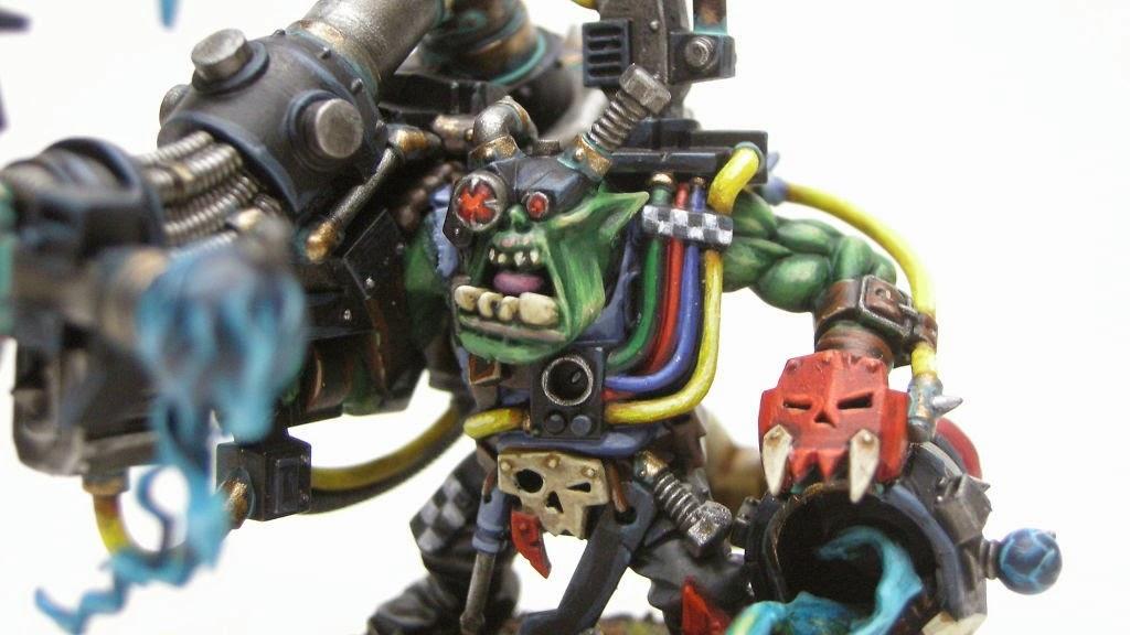 Cómo pintar un Big Mek Ork con kañón de atake shokk