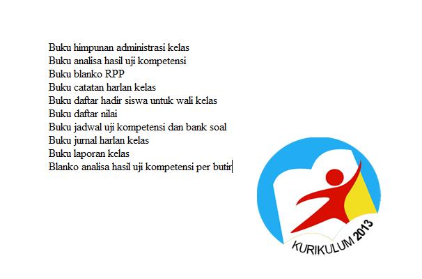Download Administrasi Wali Kelas Kurikulum 2013