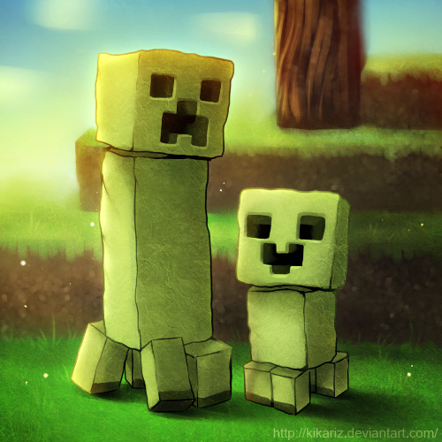 THIS IS MINECRAFT Minecraft_creepers_by_kikariz-d37b0nd