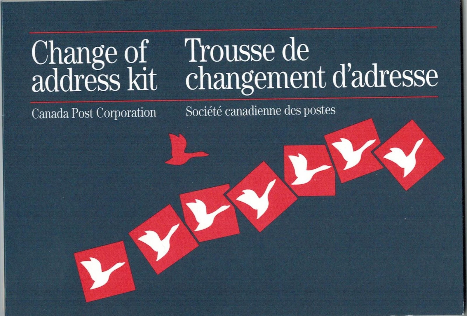 postal history corner canada goose change of address announcement cards