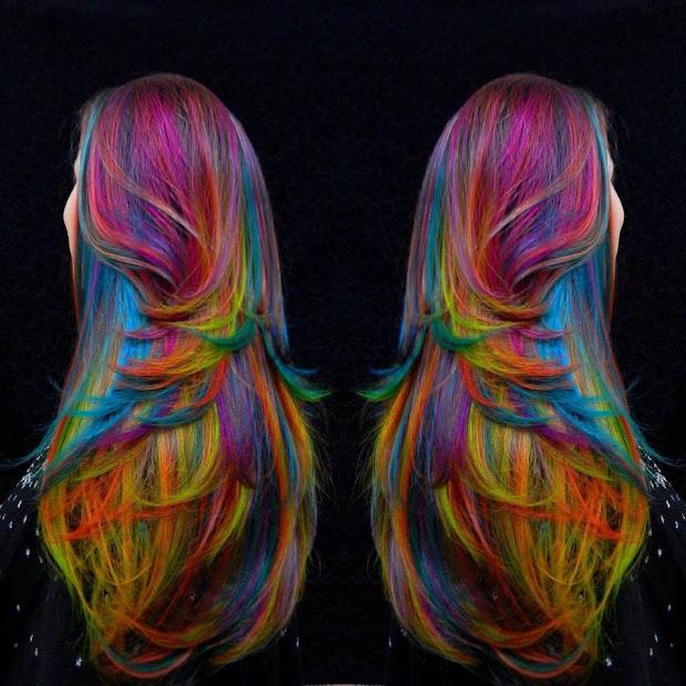 beautiful rainbow hairstyles