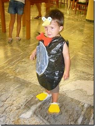 Disfraces de Halloween con Bolsas Recicladas