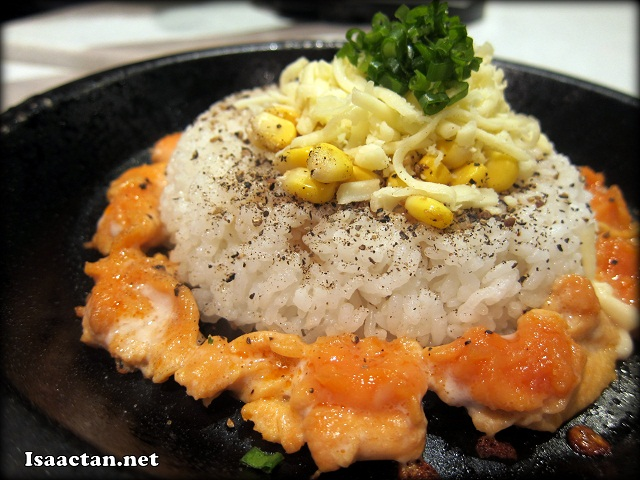 Salmon Pepper Rice with Cheese Before mixing - RM12.90 + RM2 with extra cheese