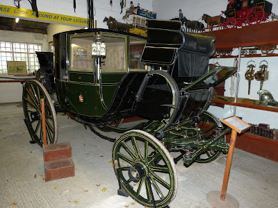 Travelling chariot with box seat fitted for town travel, Red House Stables