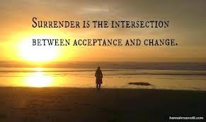 acceptance and change, surrender