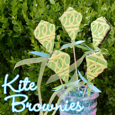 Kite Brownies on a Stick