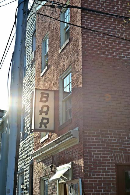 Baltimore, downtown, bar, bricks, building
