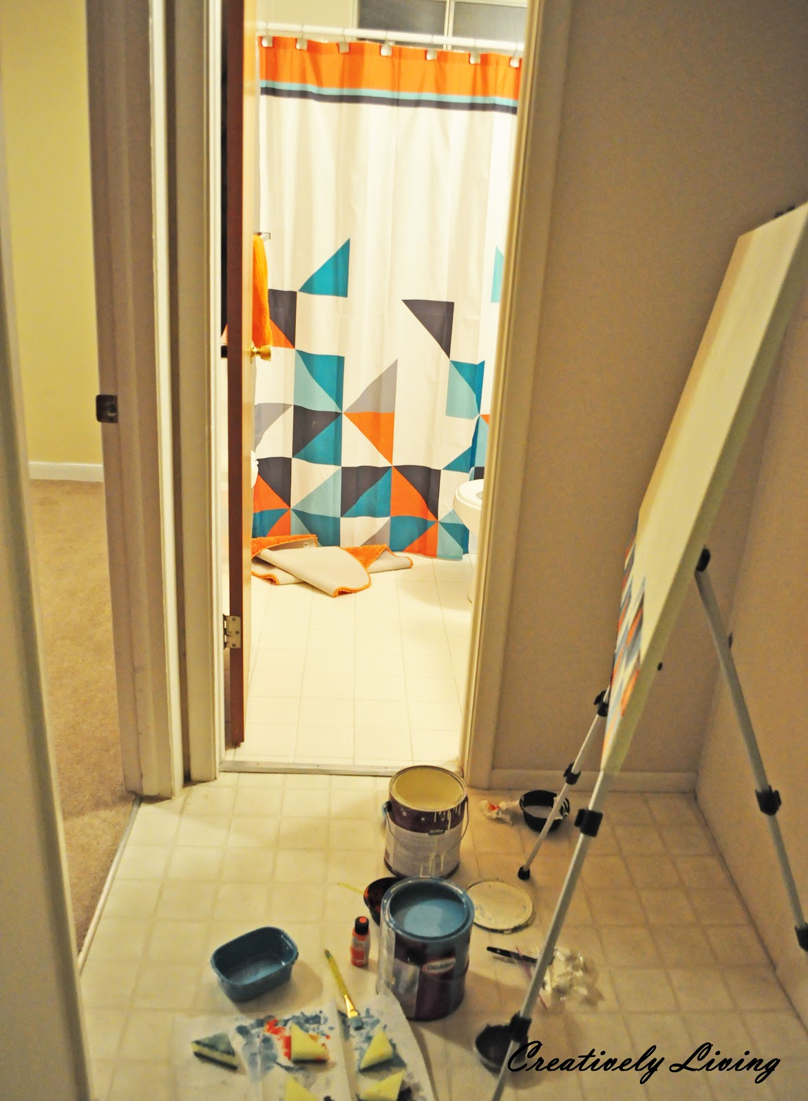 DIY Geometric Wall Art (nursery project #1) - Creatively Living Blog