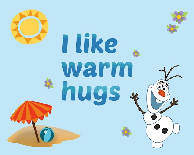 Poster.Poster de Olaf en Verano, Frozen para Imprimir Gratis.