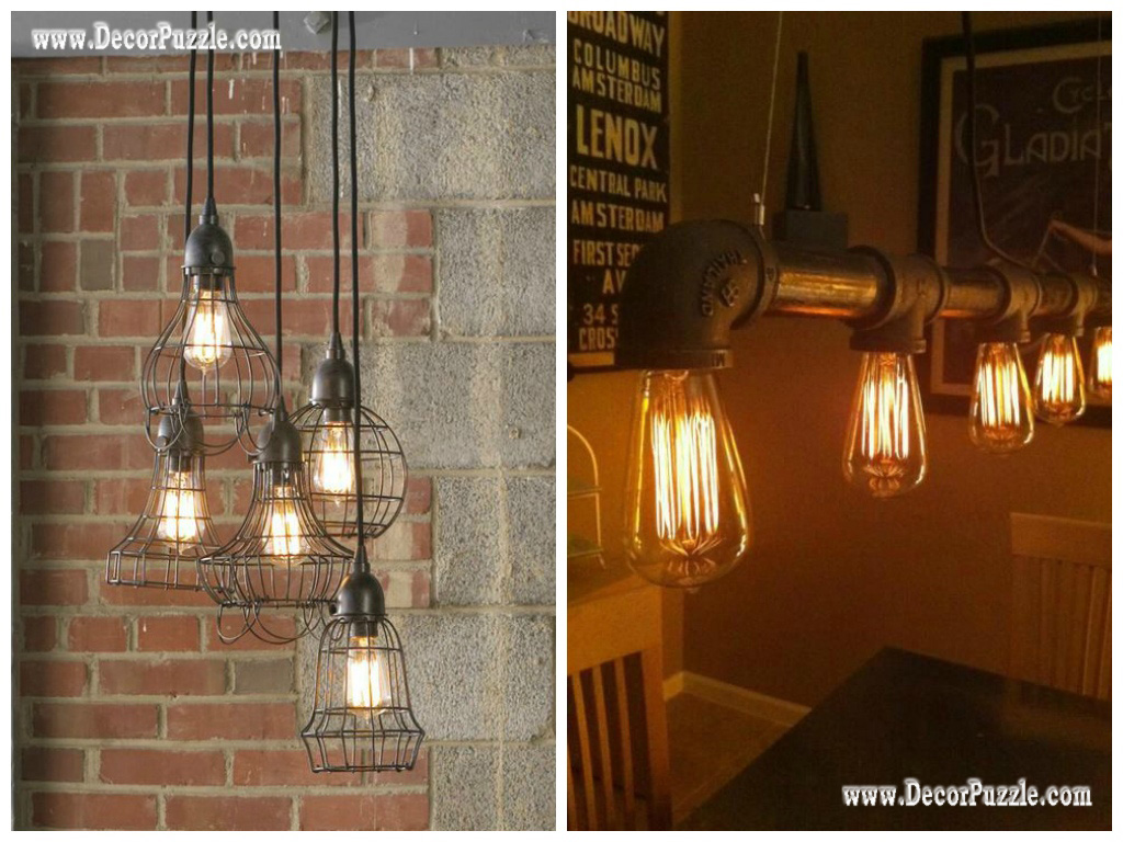 Industrial style kitchen decor and furniture top secrets Industrial style chandeliers