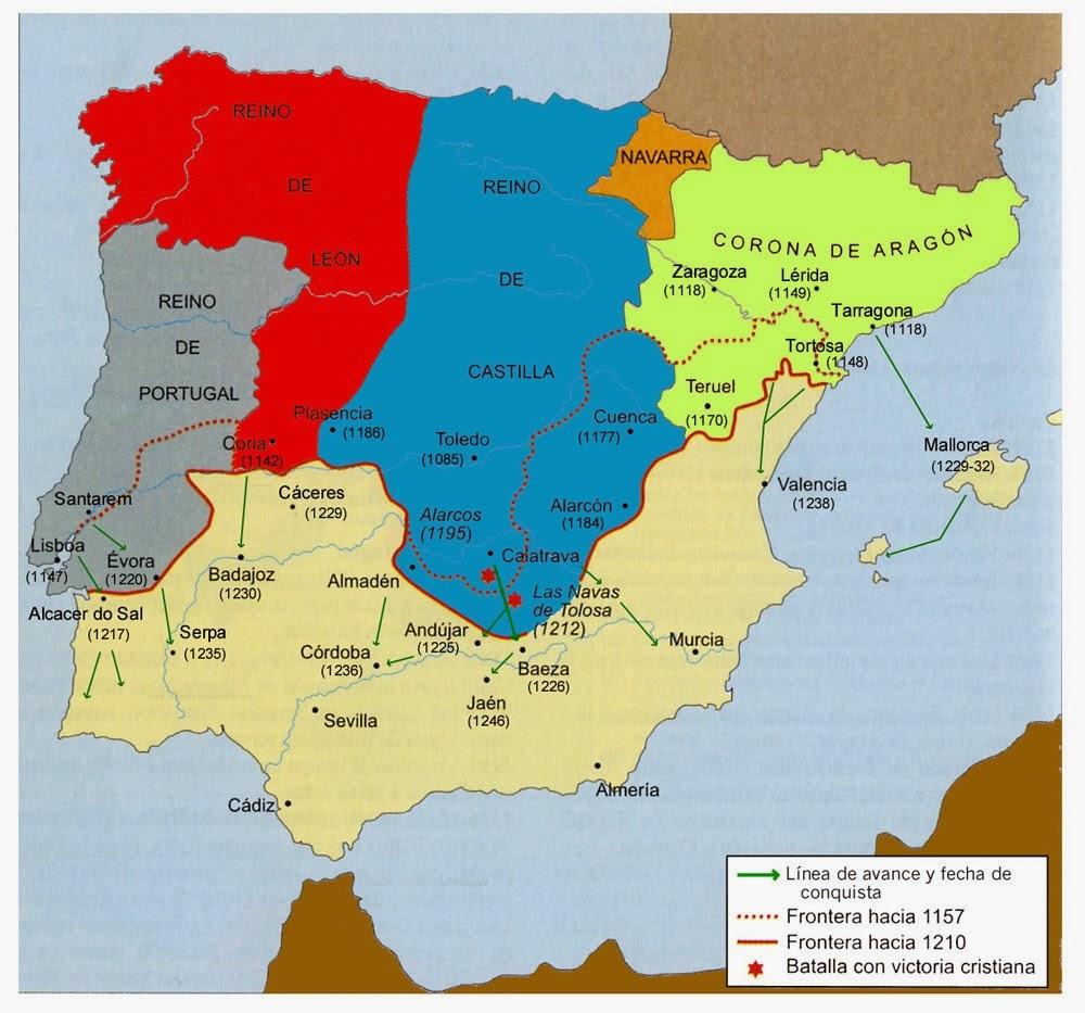La Peninsula Iberica Map on