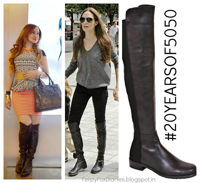 Stuart Weitzman 50-50 Boot as worn by Angelina Jolie
