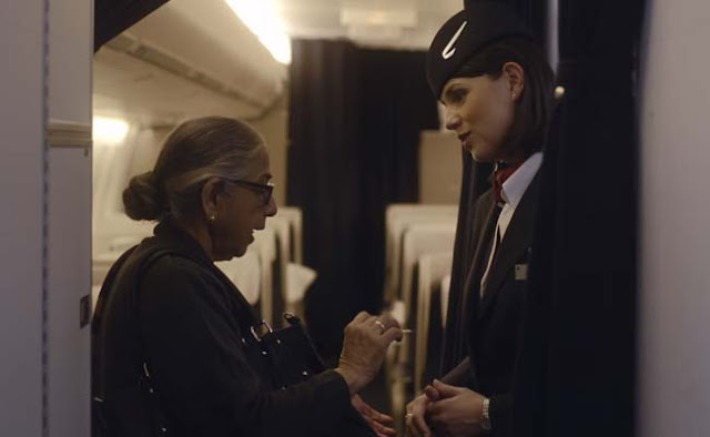 A new six minute long ad by British Airways has gone viral.  Said to be base on a true story, the ad is a skit that plays put with a long-winding melodrama.  A British flight attendant, Helena meets a senior citizen Anandi, who is flying back to Hyderabad. Helena comforts the lady who is upset because she's missing her son.