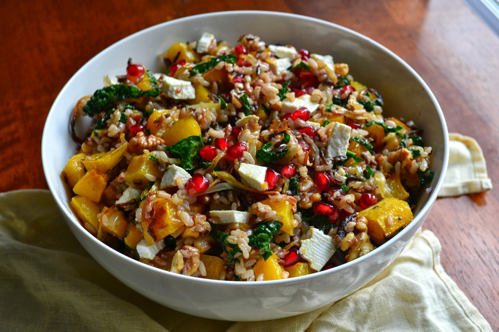 Nourish The Roots: Wild Rice Salad with Butternut Squash and ...