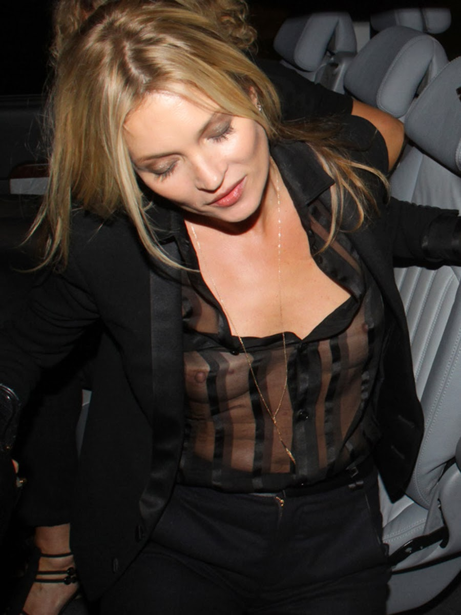 Kate Moss braless see through