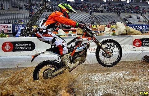 David Cordero con la KTM eléctrica