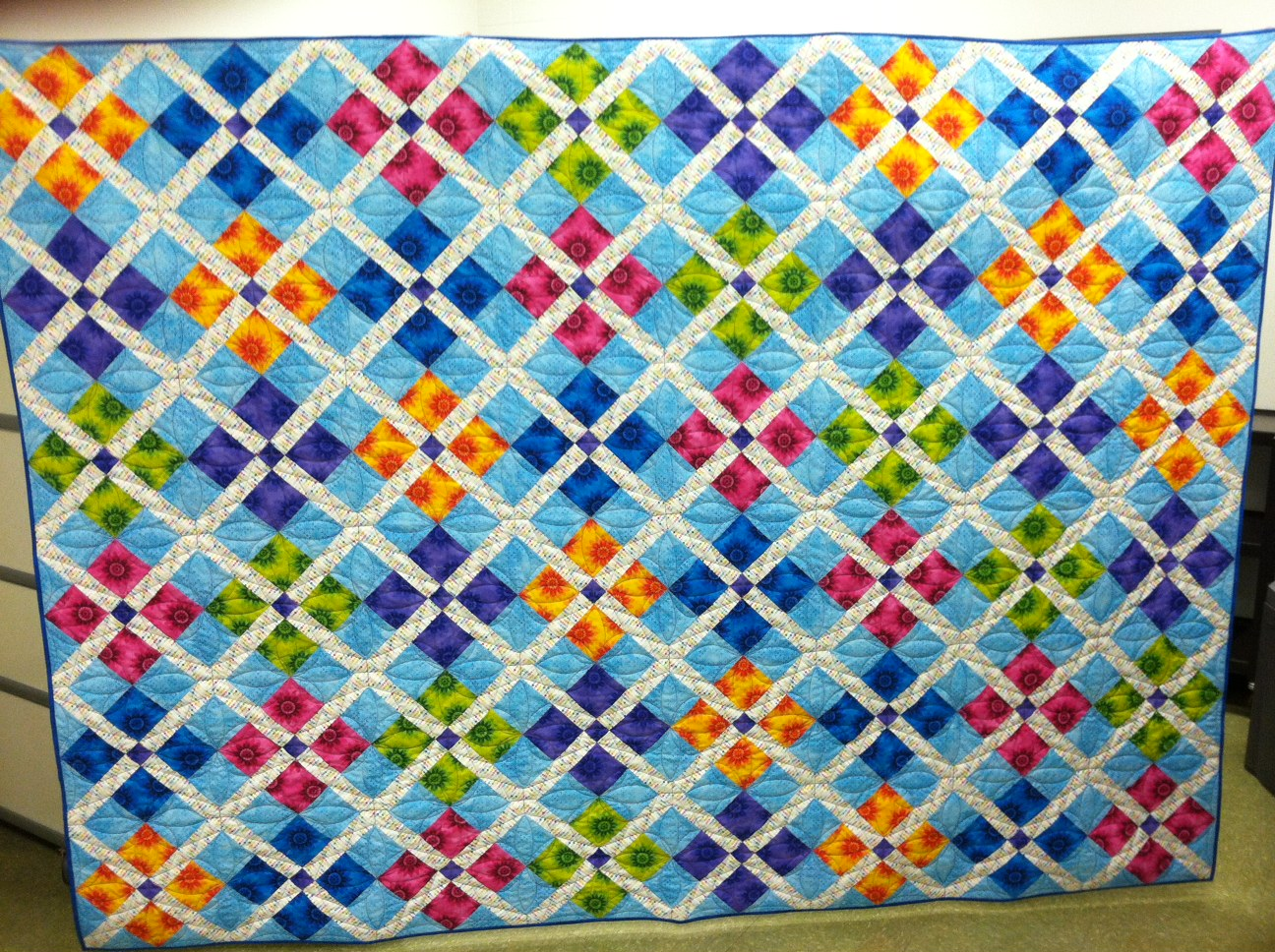 Morning Glory Designs: Calypso Carnival Published : bright colored quilts - Adamdwight.com