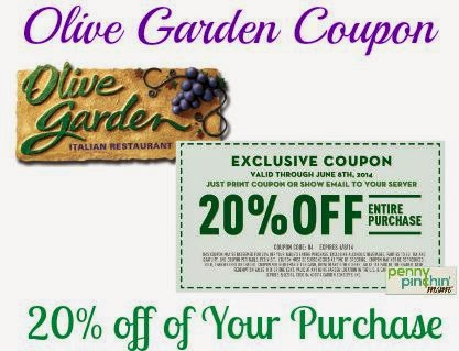 2015 Olive Garden Coupons