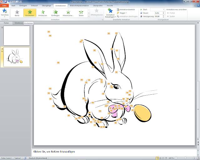 PowerPoint 2010 - Animation Erscheinen auswählen