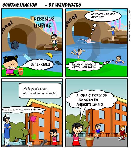 Historietas cortas de la contaminacion - Imagui