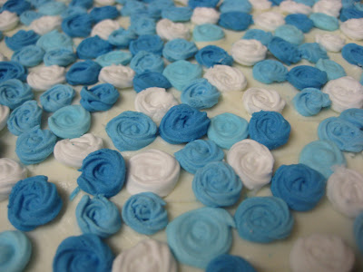 Blue Rose Petal Cake - Close Up of Roses 2