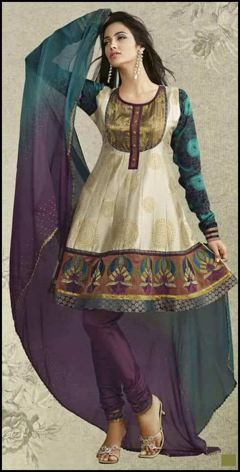 Models wearing Best Anarkali Salwar Kameez Designs from India &amp; Pakistan
