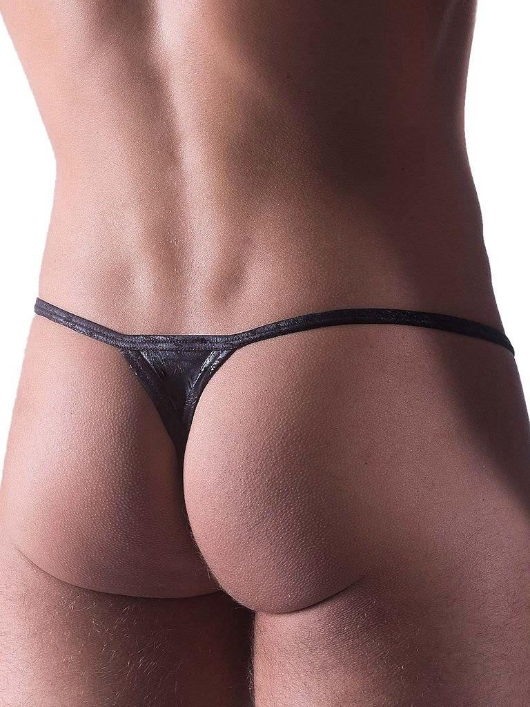 Manstore Stripper String M468 Thong Underwear Black Back Gayrado