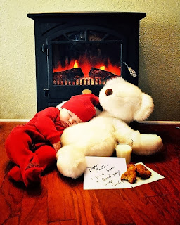 Merry Christmas 2015 Baby Photos Ideas with Teddy Bear