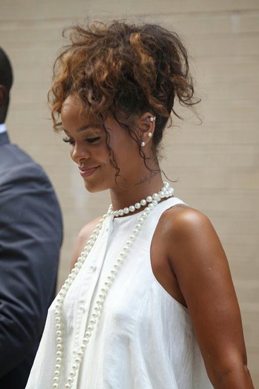 Rihanna Back in New York at Fashion Week