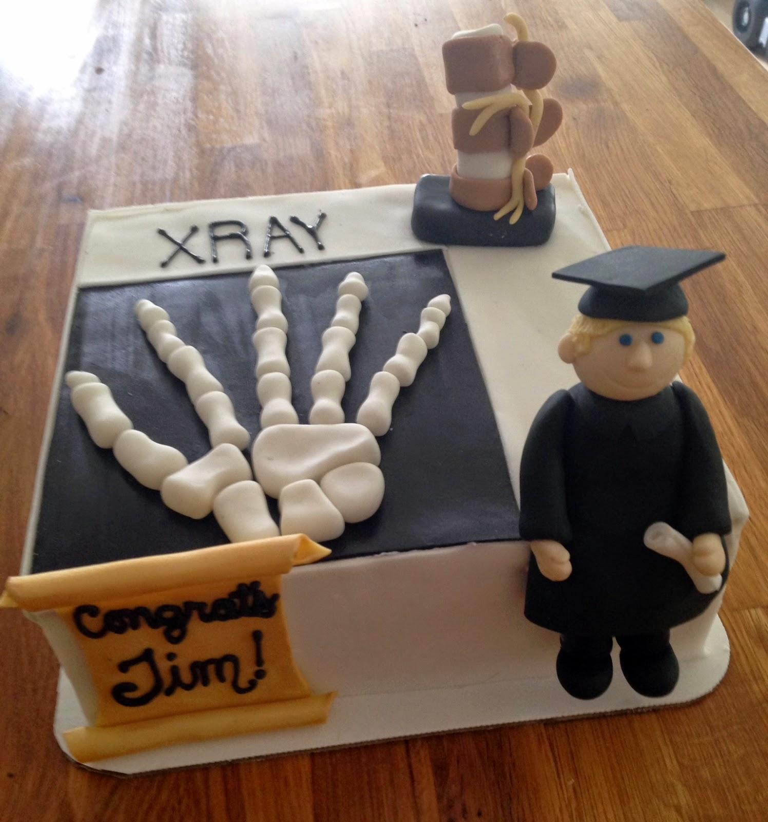 Darlin Designs XRay Graduation cake