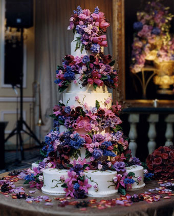 Purple Wedding Cakes With Prices