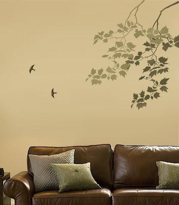 Menghias Ruangan Dengan Stencil Wall Art 2