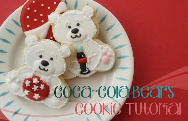 decorated Christmas Cookies of Coke Polar Bears