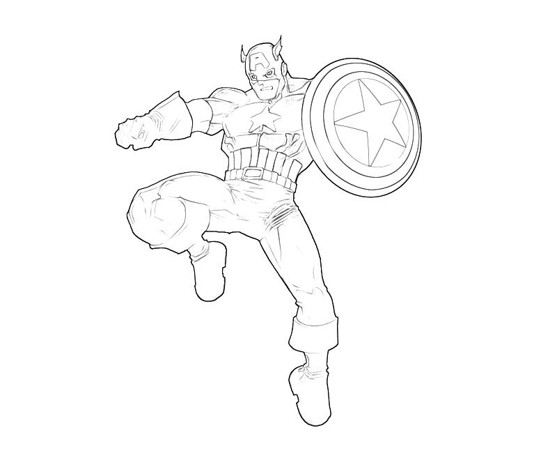 Printable Captain America Best Coloring Pages 2