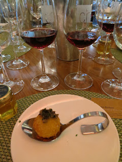 Tasting Plate #2: Pinot with Crispy Fried Mushroom Arancini