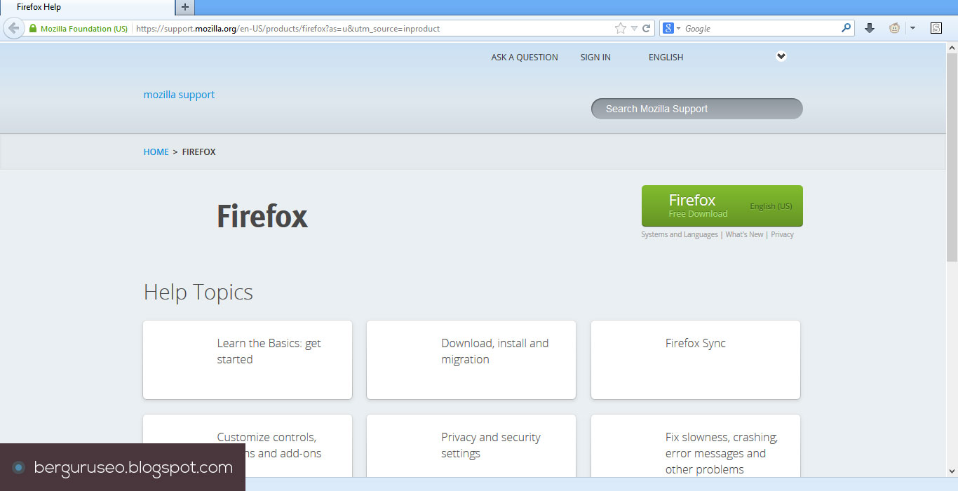 Cara Mempercepat Mozilla Firefox 3