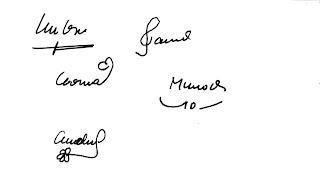 Firmas con dibujos en grafología