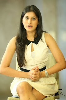 Actress Kratee Pictures in White Short Dress at Best Actors Press Meet 15