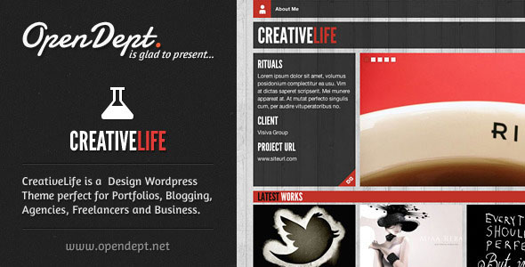 Image for CreativeLife Theme for Creatives by ThemeForest