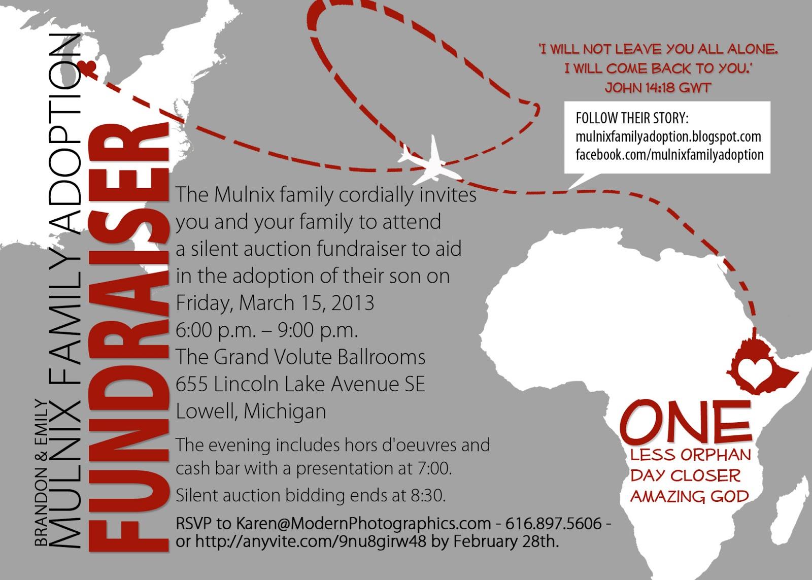 fundraiser wording