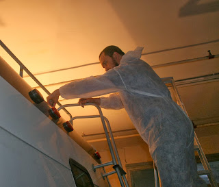 And actually doing the painting