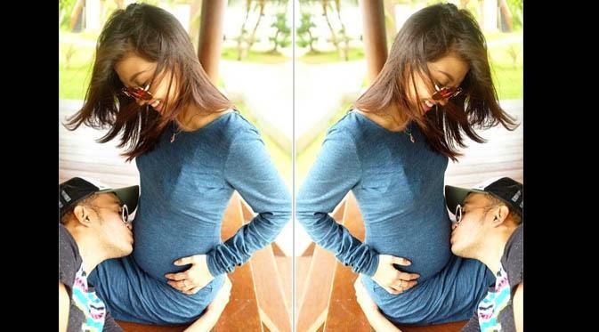 Foto Cantik Istri Ruben Onsu Saat Hamil