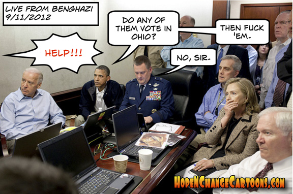 barack obama was happy to let americans die in benghazi because they couldn't vote in ohil