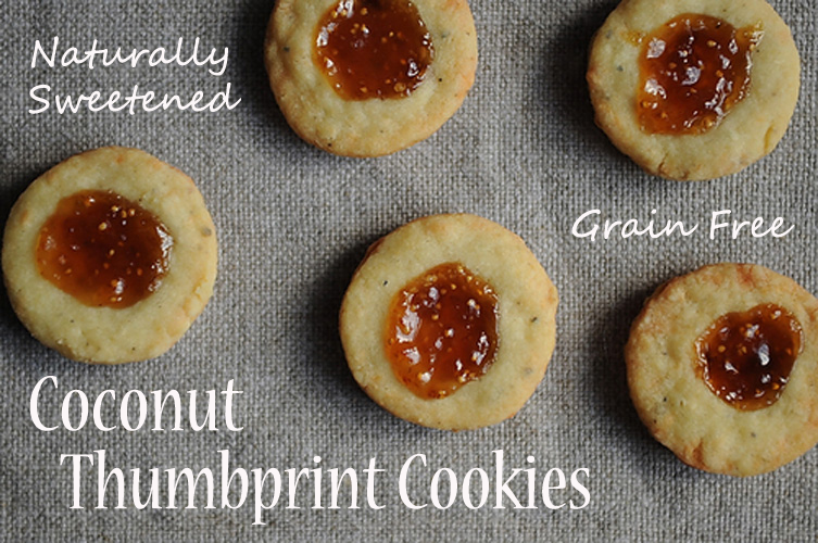 ... Anything: Jam Thumbprint Cookies (grain free, naturally sweetened