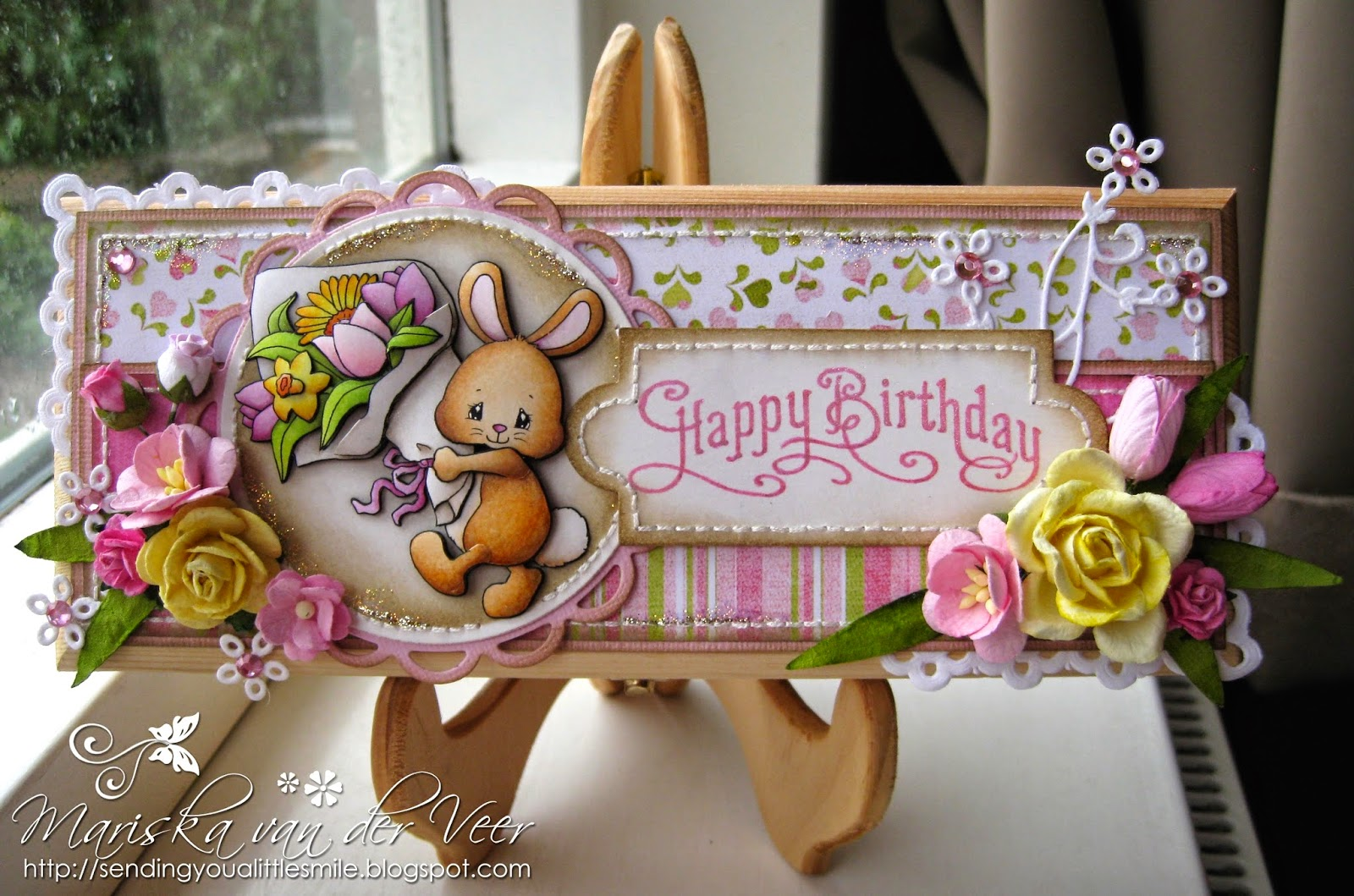 Wild orchid crafts birthday box with bunny and flowers birthday box with bunny and flowers izmirmasajfo