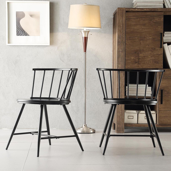 Let 39 s stay cool modern windsor dining wood chair design for Modern low back dining chairs