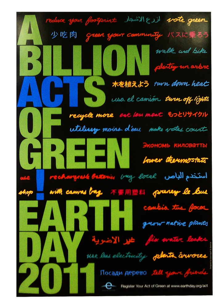 official earth day 2011 logo. Official Earth Day 2011 Poster