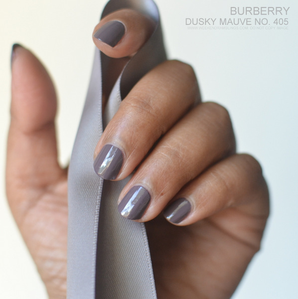 Burberry Nail Polish Dusky Mauve No 405 Spring Summer 2014 Makeup Collection Photos Swatches Review NOTD Beauty Blog