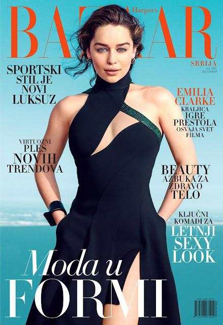 Actress @ Emilia Clarke by Norman Jean Roy for Harper's Bazaar Serbia, July 2015